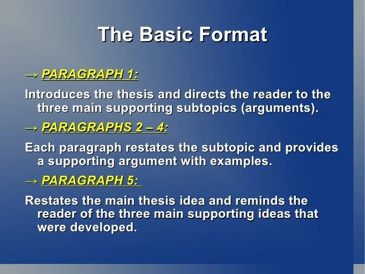 example 5 paragraph essay