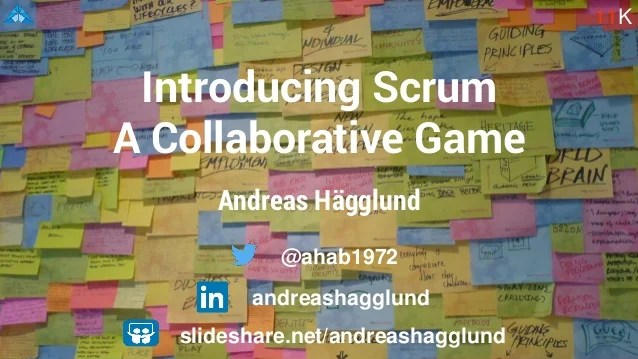Introducing Scrum A Collaboration Game