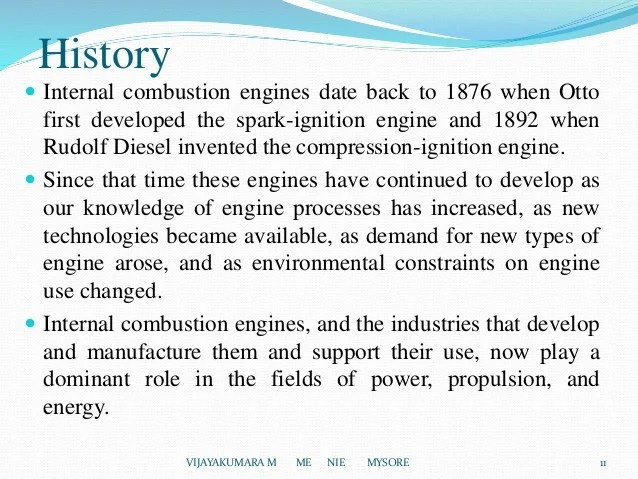 When Was The Internal Combustion Engine Invented And By Whom