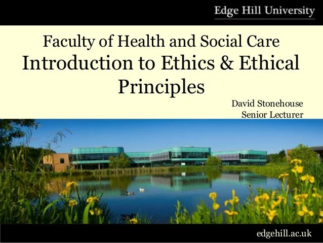 Introduction to ethics amp ethical principles