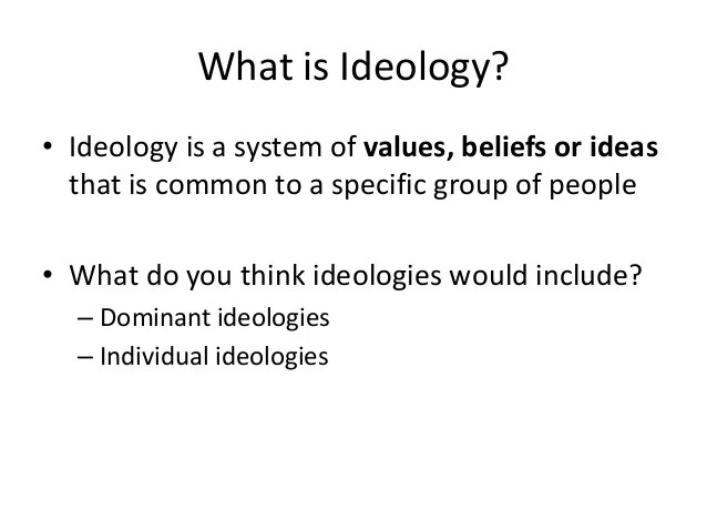 Introduction to Ideology