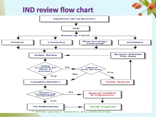 Ind review flow chart also investigational new drug orange bookunderstanding on    rh slideshare