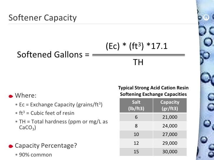 Softener capacity also ion surveying  water rh slideshare