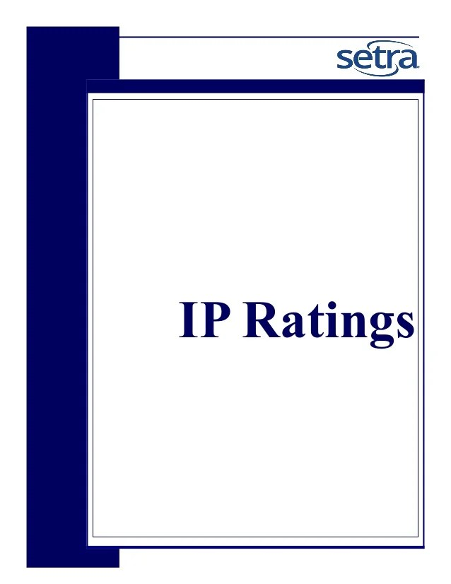 also ip rating rh slideshare