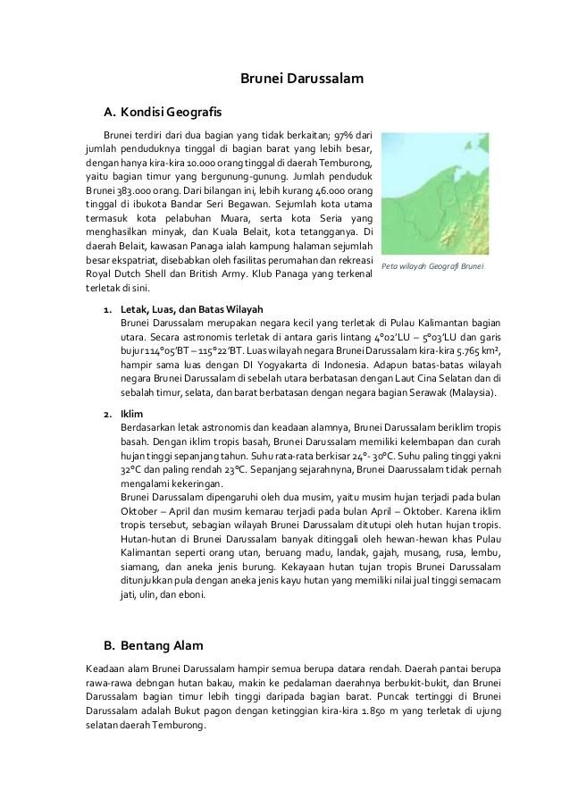 Bentang Alam Singapura : bentang, singapura, Kadaan, Indonesia, Brunei, Darussalam, Materi, Kelas, Cute766