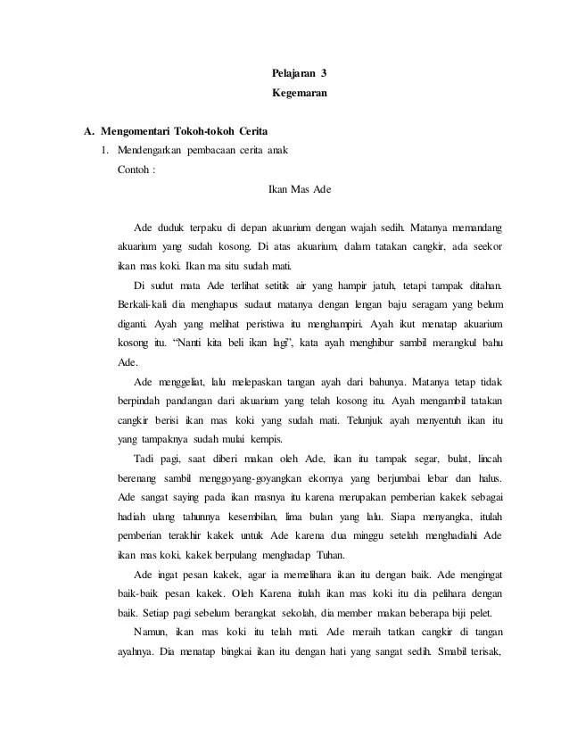 Contoh Cerpen Bahasa Indonesia Goresan