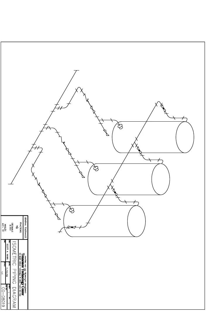 Isometric Piping Diagram Model