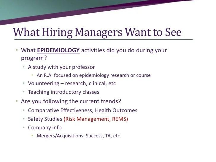 Career Advice in Pharmacoepidemiology