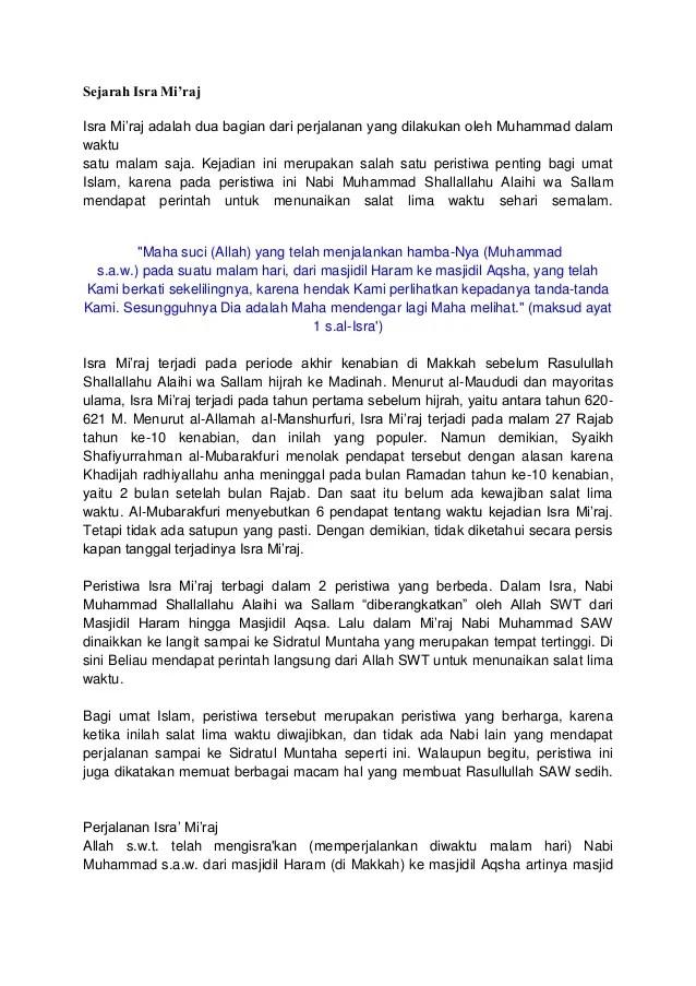 Contoh Surat Resmi Bahasa Sunda Tentang Isra Mi Raj