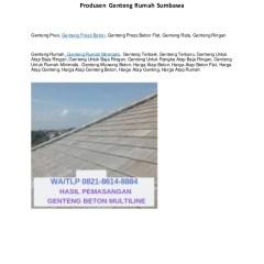 Harga Atap Baja Ringan Dan Genteng Beton Wa Telp 082186148884 Jual Rata Gresik