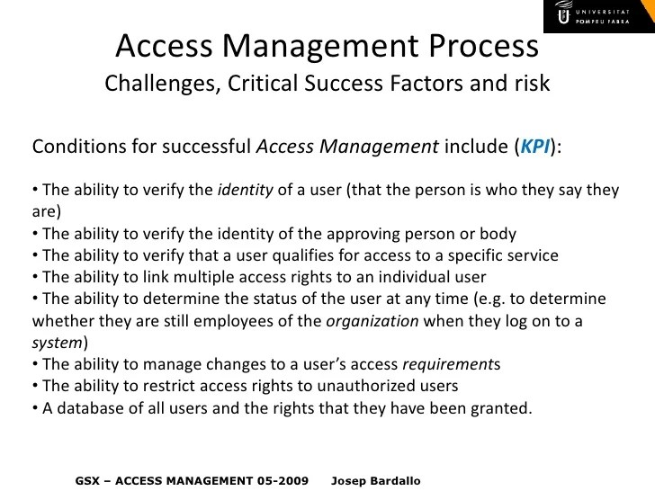 Access management also itil iam rh slideshare