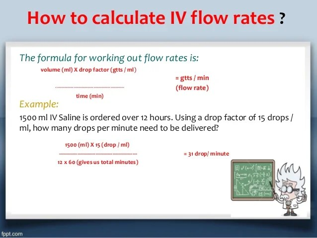 how to calculate iv flow also fluid therapy types indications doses calculation rh slideshare