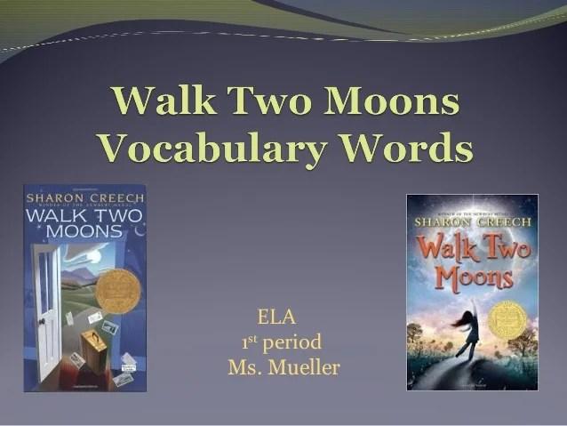 Walk Two Moons Vocabualry Web