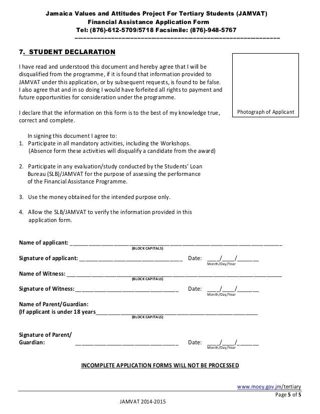 Jamvat application form 2014 2015