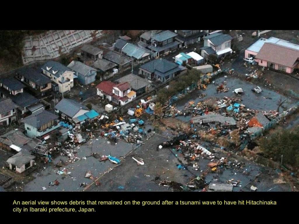 An Aerial View Shows Debris