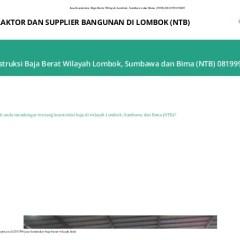 Tukang Baja Ringan Lombok Jasa Konstruksi Berat Wilayah Sumbawa Dan Bima Ntb 081