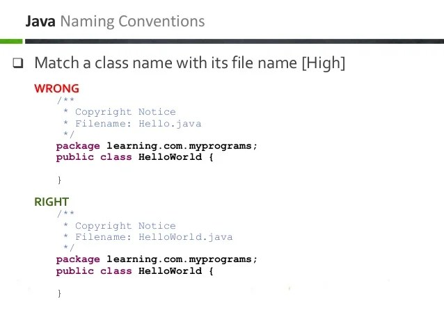Java  J2EE Coding Conventions