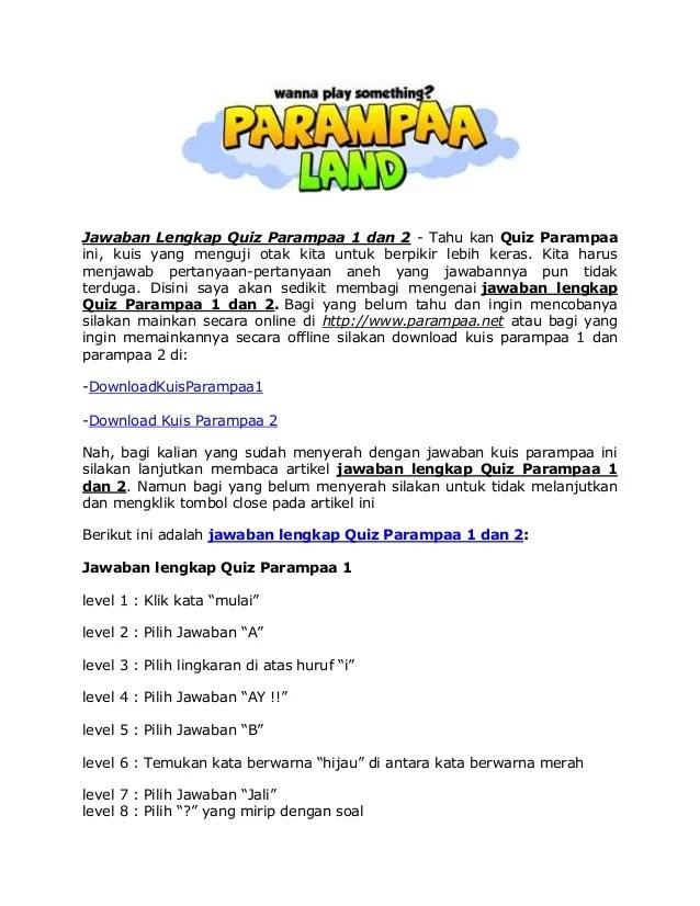Kunci Jawaban Quiz Parampaa : kunci, jawaban, parampaa, Jawaban, Lengkap, Parampaa
