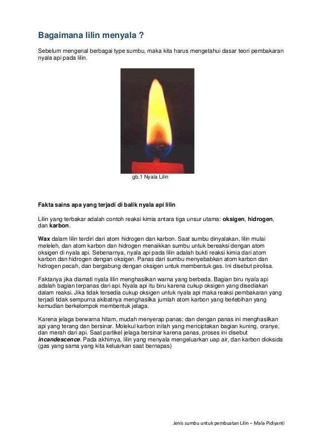 Lilin Terbakar Termasuk Perubahan : lilin, terbakar, termasuk, perubahan, Sumbu, Proses, Pembakaran, Lilin