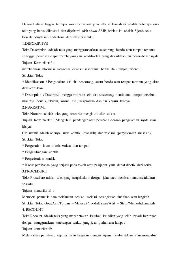 Jenis Teks Dalam Bahasa Inggris : jenis, dalam, bahasa, inggris, Jenis, Bahasa, Inggris