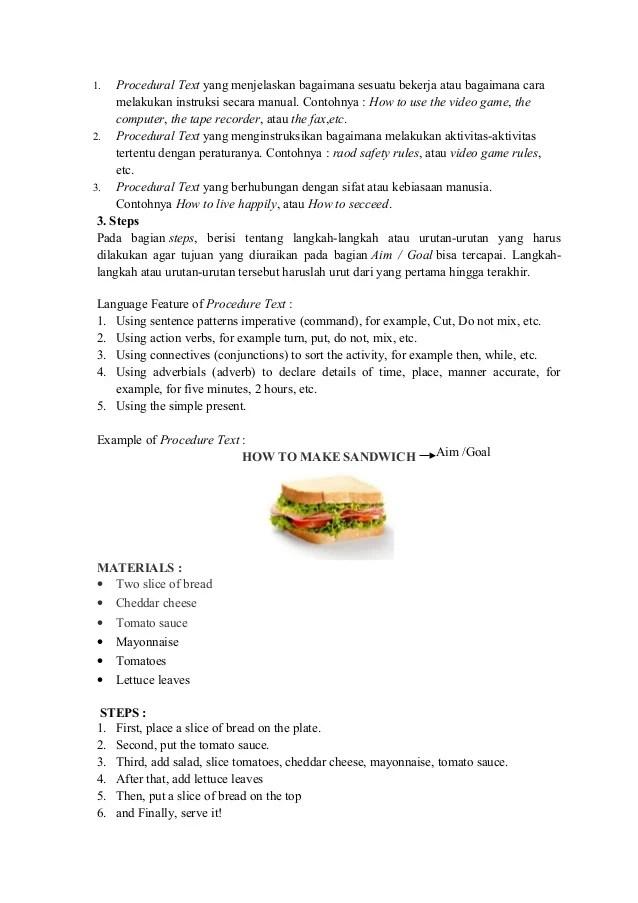 Procedure Text How To Make Sandwich : procedure, sandwich, Sandwich, Procedure, Howto, Techno