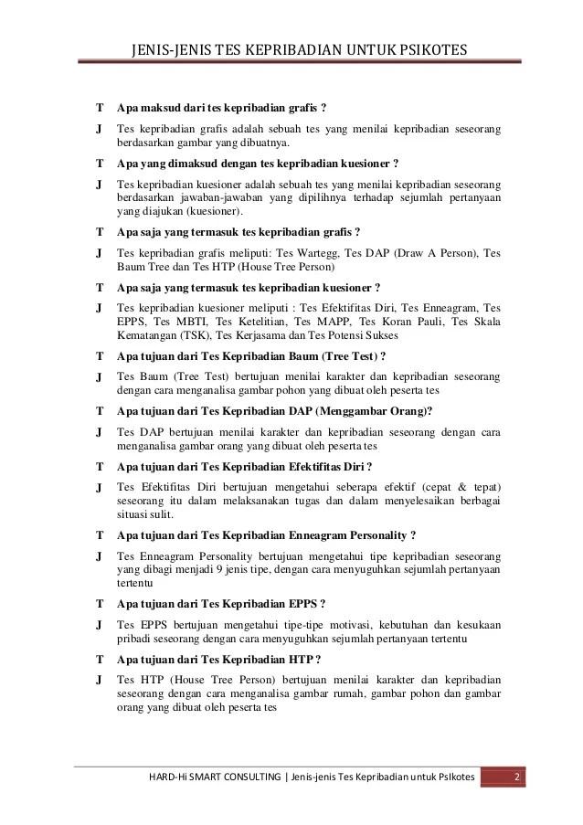 Tes Epps Pdf : Contoh, Jawaban, Pembahasan, Psikotes, Psikologi, Keribadian, Individu, Cute766