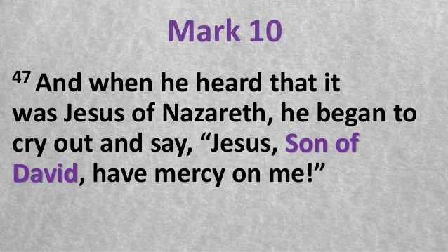 Image result for have mercy on me son of david