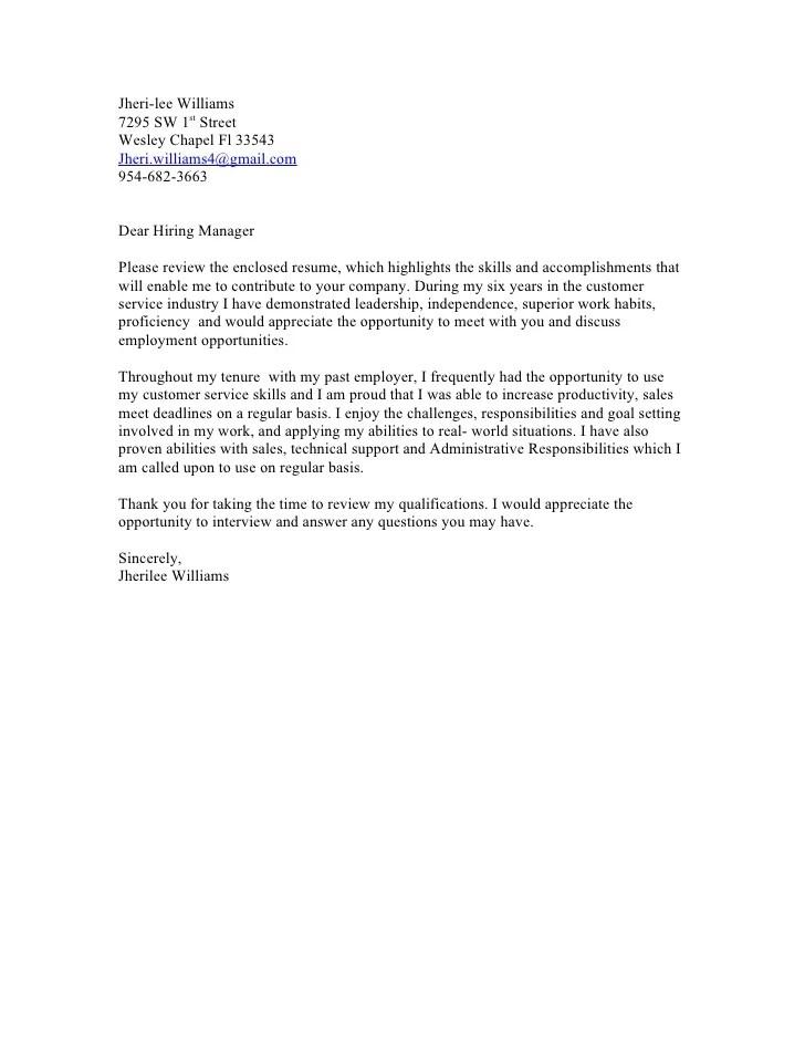 Jheri Cover Letter