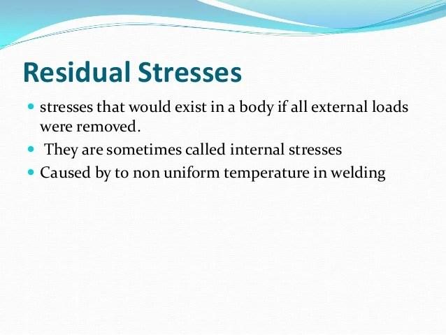 residual stress in welding