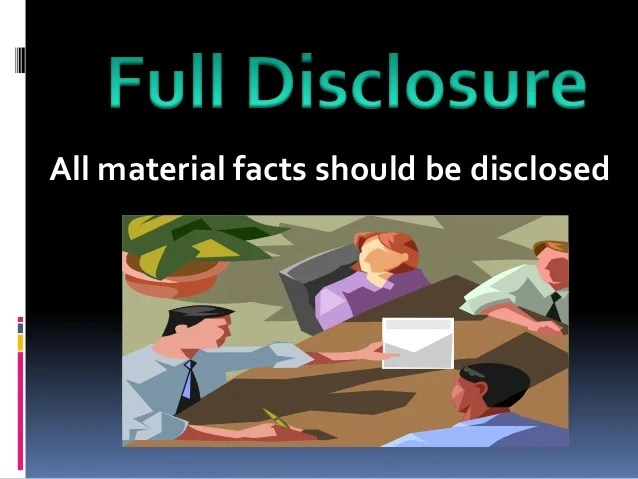 Image result for Full Disclosure Concept