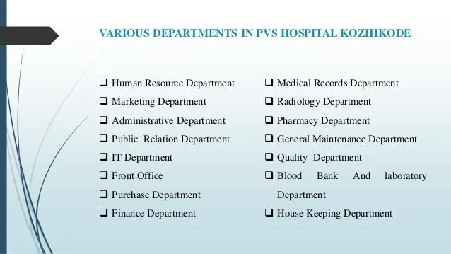 Jishnu organiations study at pvs hospital