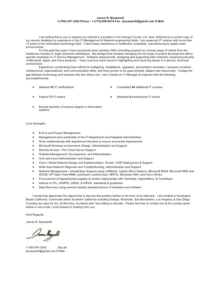 Current Cover Letter  Resume