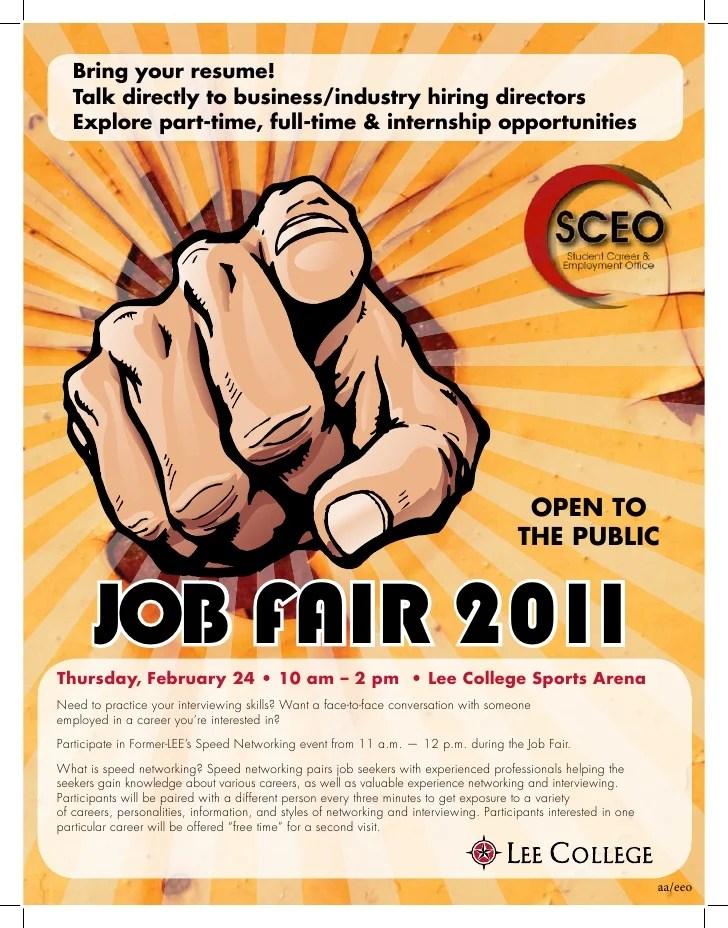Job Fair Flyer 2011