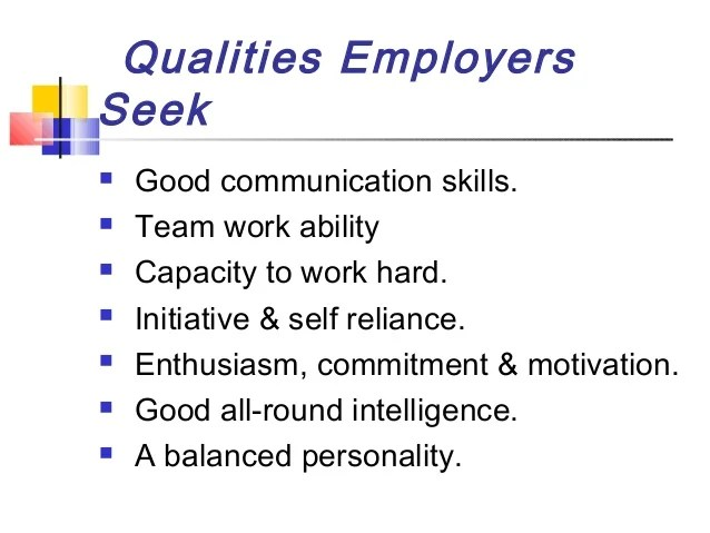 good qualities for a cv