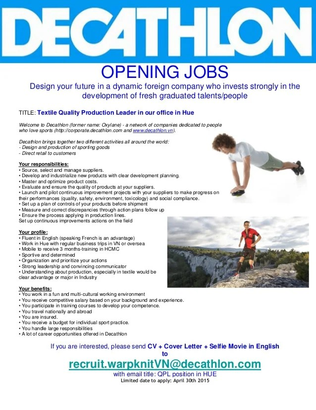 Decathlon Job Description