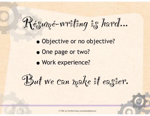 Job Search 101 Resumewriting