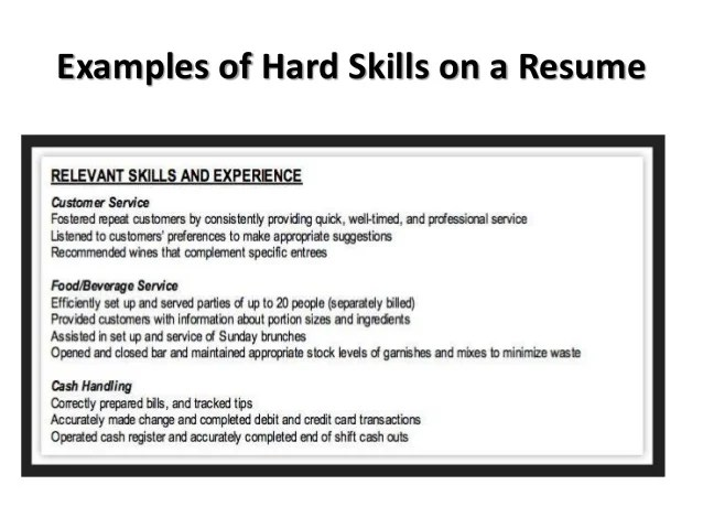 resume hard skills example resume and cover