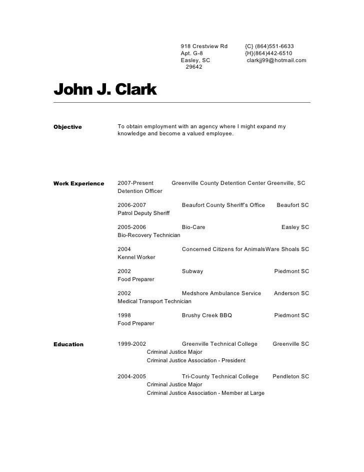John Clarks Resume