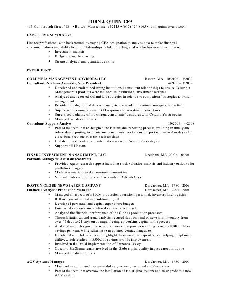 cfa charterholder on resume examples