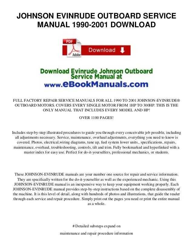 also johnson evinrude outboard service manual download rh slideshare
