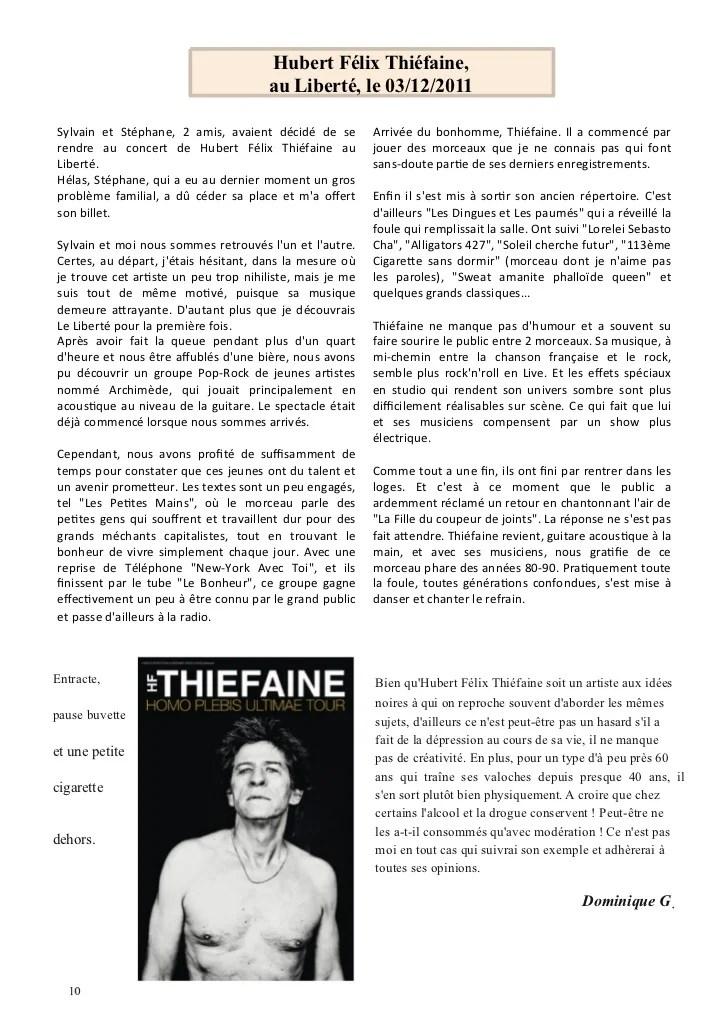 Paroles Les Dingues Et Les Paumés : paroles, dingues, paumés, Journal, N°51, Janvier
