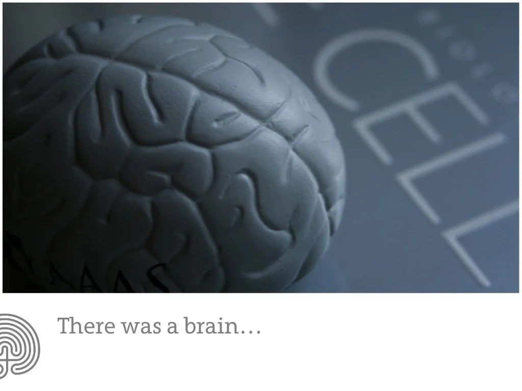 …there was a brain who