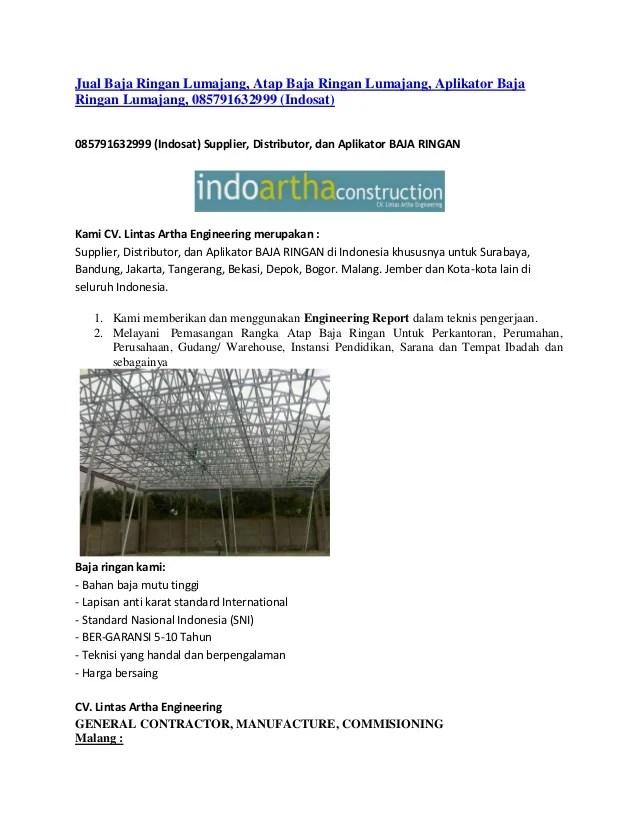 harga bahan baja ringan bandung jual lumajang atap aplikator