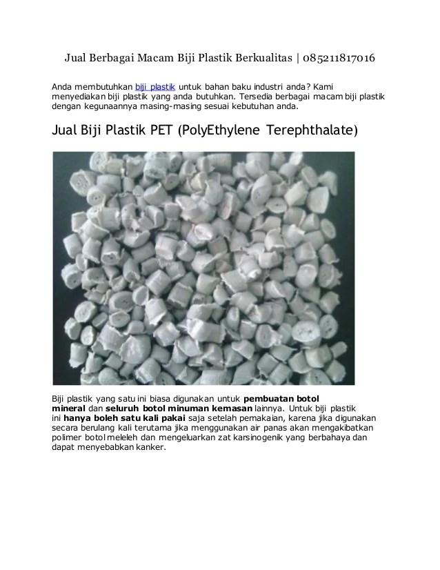 Bahan Pembuatan Plastik : bahan, pembuatan, plastik, Berbagai, Macam, Plastik, Berkualitas, 1181-7016