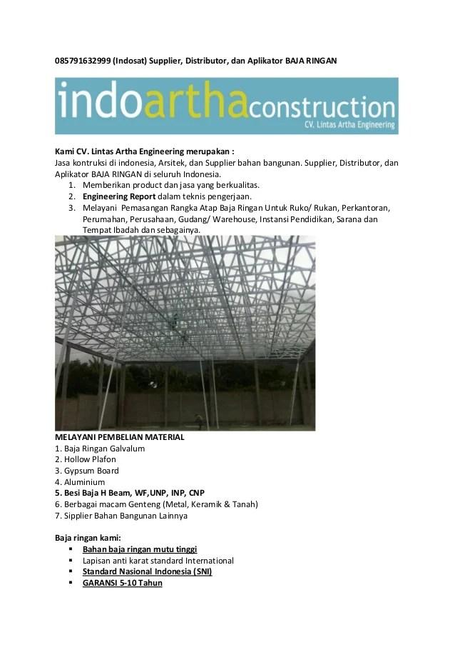 harga rangka atap baja ringan di malang galvalum murah surabay