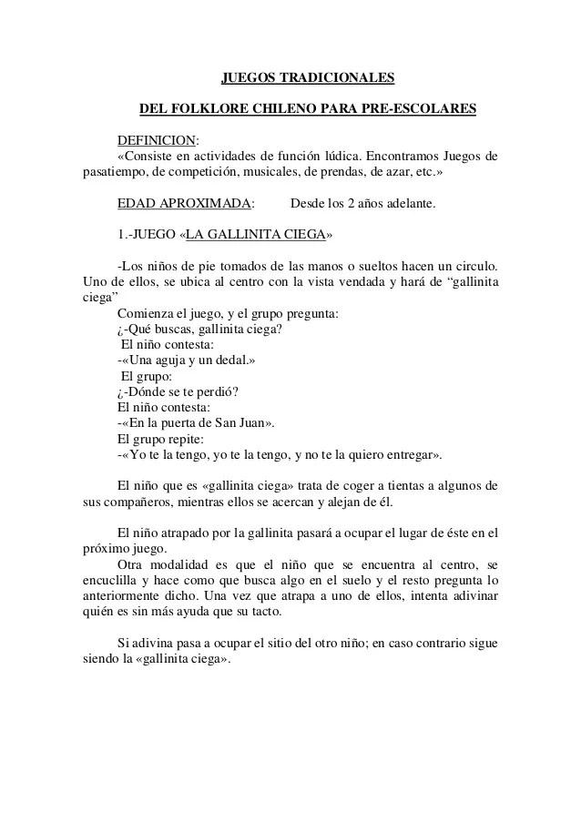 Instructivos De Juegos De Patio La Gallinita Ciega : instructivos, juegos, patio, gallinita, ciega, Juegos, Chilenos