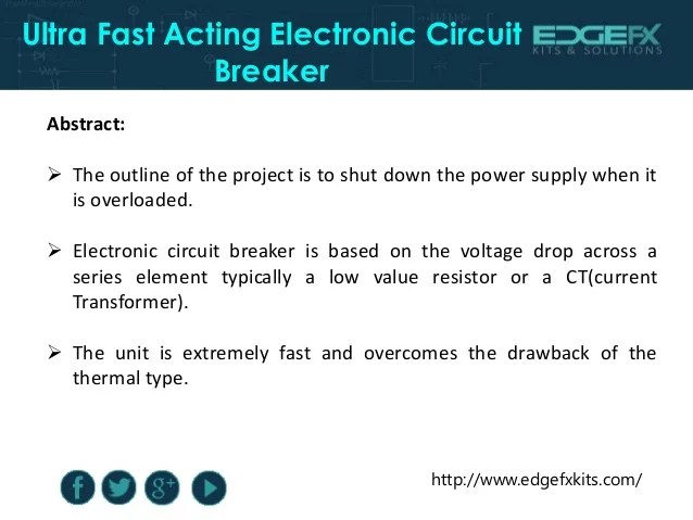 Electronic Shutdown Circuit