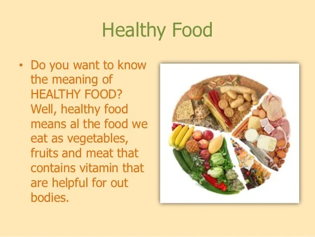 nutrition  food also junk and healthy rh slideshare
