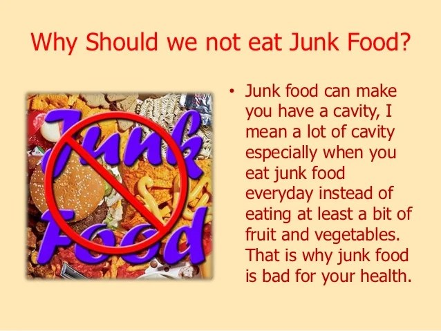 also junk and healthy food rh slideshare