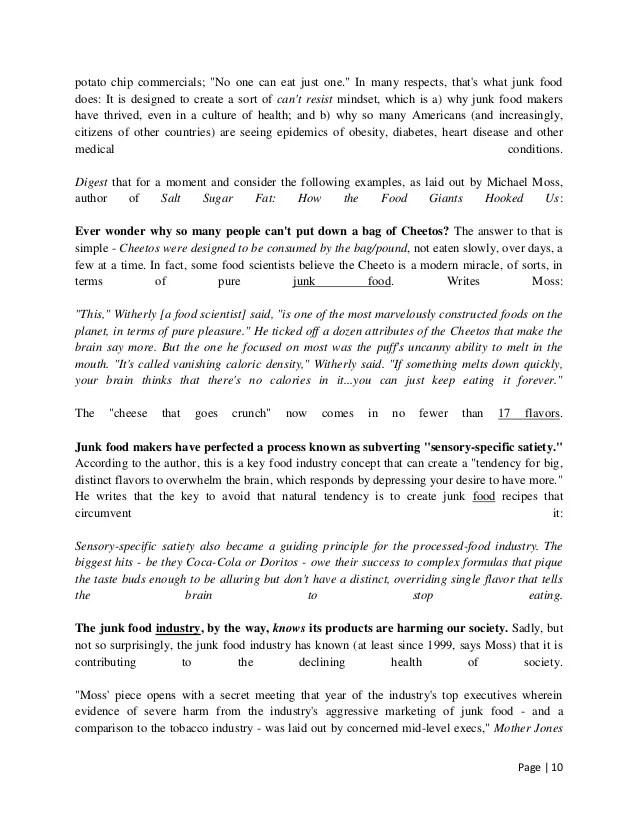 Essay on help junk food in hindi